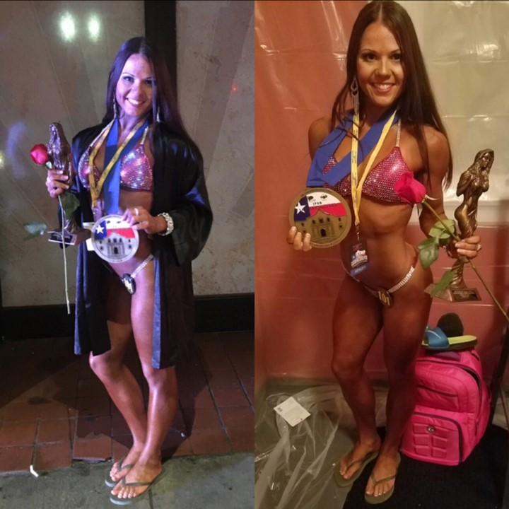 """""""I started training with my coach, Stephanie Sequeira, a Team Long athlete and coach in April 2016. My goal was to compete in a NPC bikini competition. I had very little information on the sport, I only knew about the glamourous after stage shots that tend to flood Instagram. But like most, I was captivated by their shiny bikinis, makeup, and abs! From the beginning """"Coach Steph"""" (her official name saved in my contact list), was super informative and more importantly MOTIVATING. She was just a text message away for 16 whole weeks, my """"day one"""" if you will. From helping me with the right foods and training to bikini shopping and posing, and the occasional motivator when I wasn't getting it from myself. After 16 long weeks of weights, cardio, repeat and a peak week that seemed to last longer than 7 days, I stepped on stage a completely different human. I felt confident after hearing how Coach Stephanie was so pleased with the way I looked, not only on show day, but every check-in leading to the big day! I couldn't be any more proud to be a part of Team Long, they helped me reach my goal of entering my first bikini show and now I'm hooked! My next show is in December 2016 and I know Stephanie and Team Long will be just as awesome with helping me bring the best package as I can possibly bring!"""""""